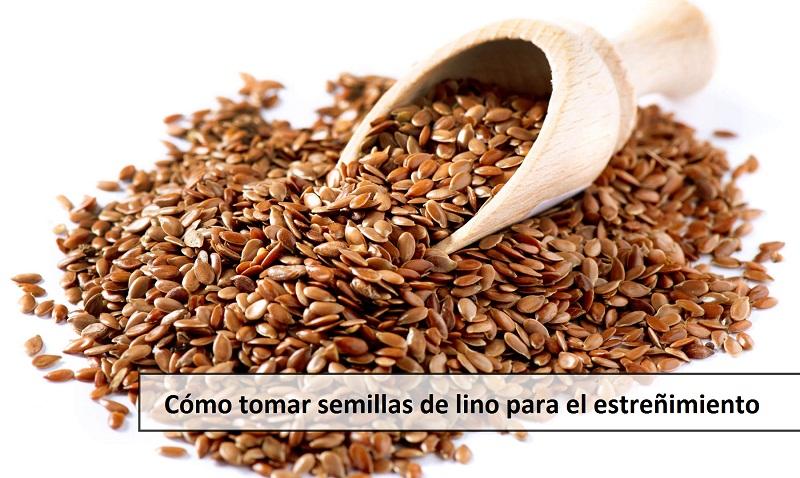 Cómo tomar semillas de lino para el estreñimiento